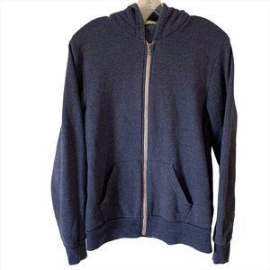 Alternative Apparel Size M Blue Hoodie Full Zip